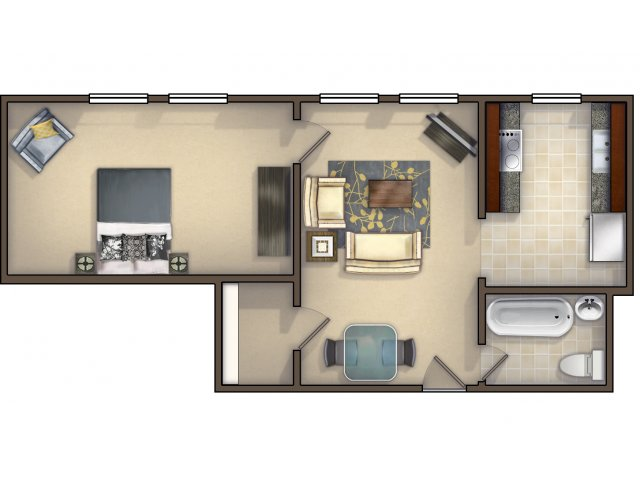 An Appointment to View Units is Recommended. Try Our Virtual Move In Tool! Click on the Link Below. (Not to Scale)
