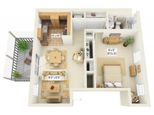 Floor Plan 2   Apartment For Rent In Largo FL   Fountains of Largo