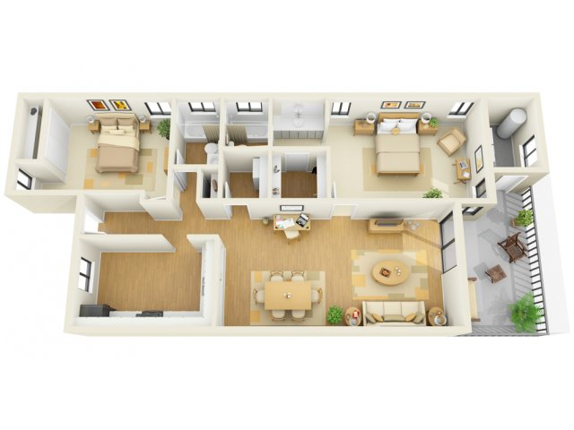 Spacious Floor Plans | Luxury Bradenton FL Apartments | Bay Club