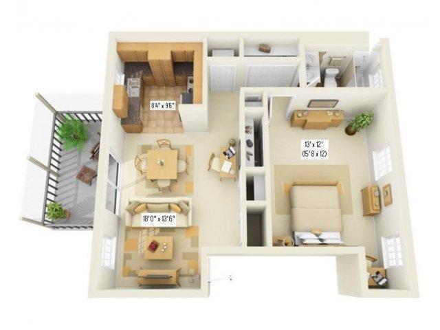 Floor Plan 6   Largo FL Apartments   Fountains of Largo