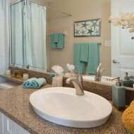 Fine fixtures in bathroom at Palm Cove apartments in Bradenton Florida