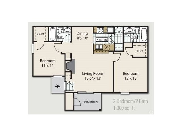 2 Bed 2 Bath Apartment in Tallahassee FL