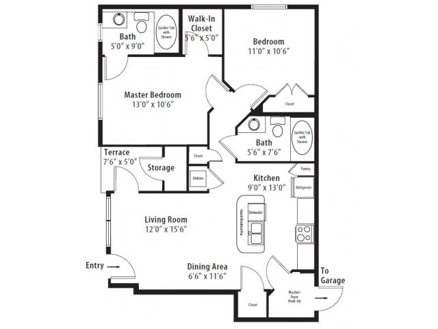 2 Bed 2 Bath Apartment In Madison Al Somerset At Madison
