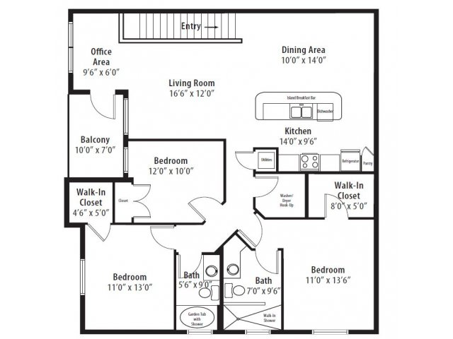 3 Bed 2 Bath Apartment In Madison Al Somerset At Madison