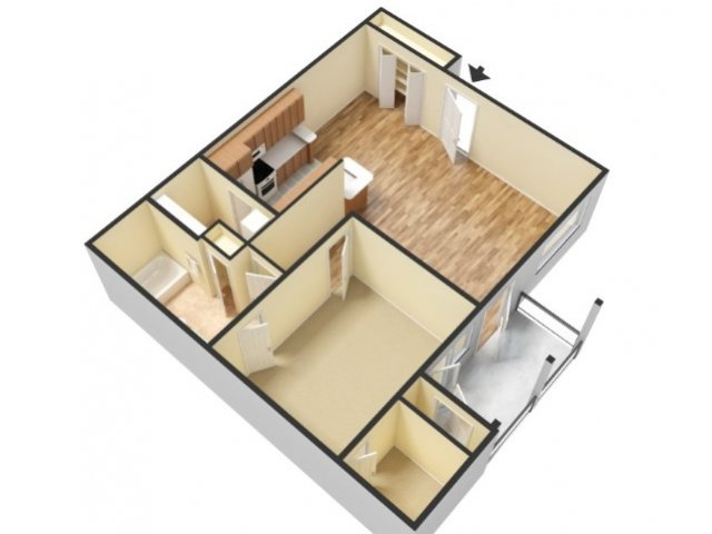 3D Floorplan-vacant