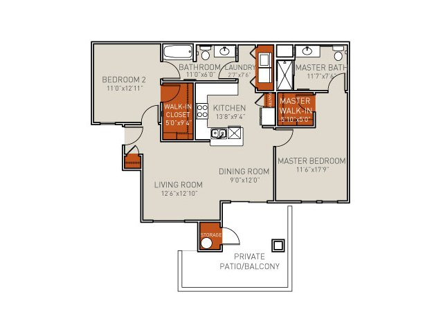 B2 Handicap Accessible Barrier Free Floor plan