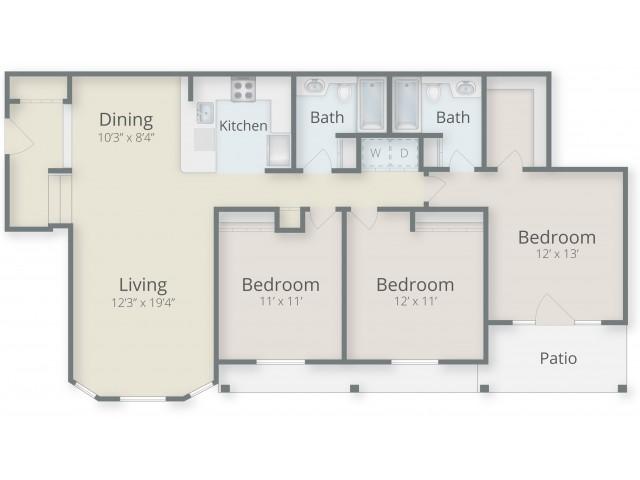 Three Bedroom/ Two Bathroom Foyer