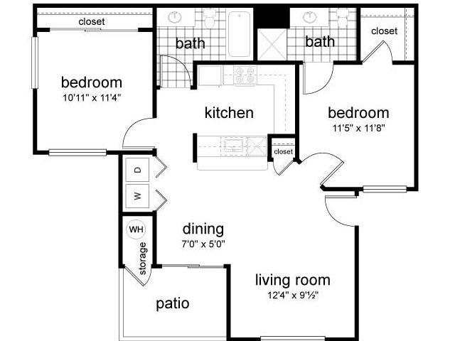 2 Bed 2 Bath Apartment In Casa Grande Az Cypress Point Retirement Community