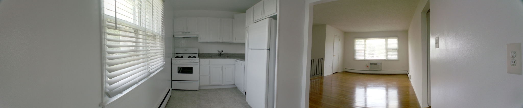 1 bedroom white cabinets