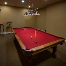 Apartment rentals interior living area pool table in Menifee, CA