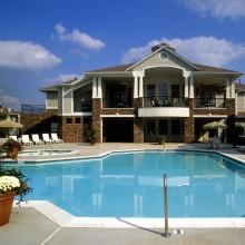 Apartment rentals exterior building in Charlotte, North Carolina