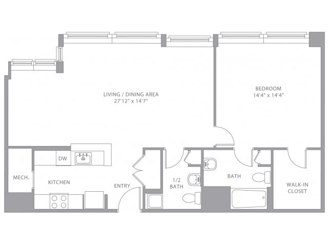 Hamel Mill Lofts Floor Plans 1 Bed 1 5 Bath Apartment In