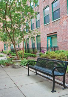 Relax in our community grounds at Cameron Kinney apartments for rent in Richmond