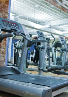 Residents of our Richmond rentals enjoy our fitness center at Cameron Kinney