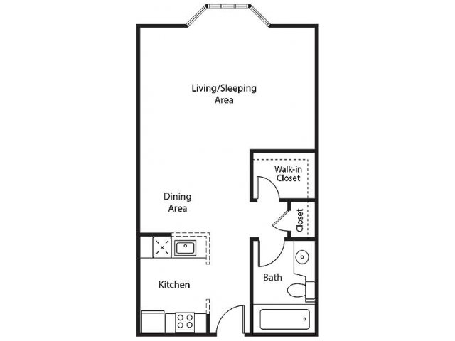 Studio Apartment Floor Plan apartments for rent in san francisco | bayside village apartments