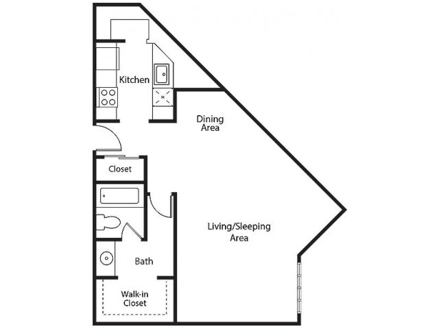 Floor Plan 1 | Bayside Village Apartments