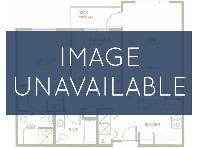 2 bedroom 2 bathroom apartment B1 floor plan at Talavera Apartments in Denver, CO