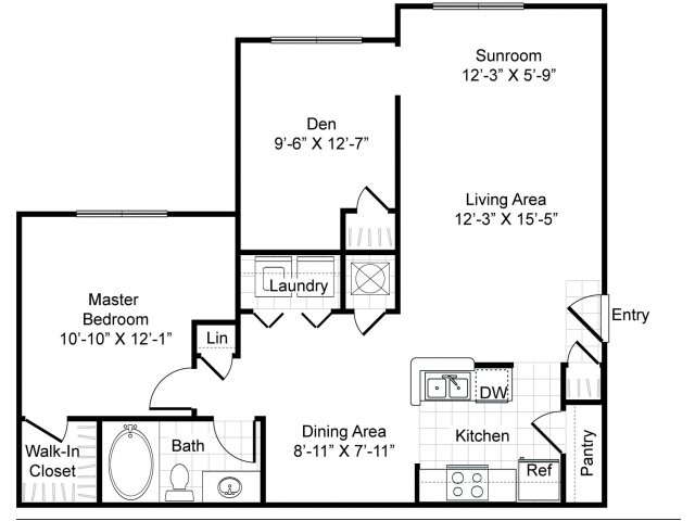 1 2 and 3 bedroom apartments in grand prairie tx for 1235 s prairie floor plans