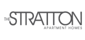 Landing logo for The Stratton Apartments in San Diego, CA.