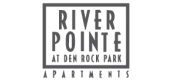 Logo for River Pointe at Den Rock Park Apartments in Lawrence, MA