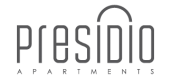 Logo for Presidio Apartments in Denver, CO.