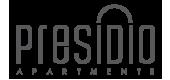 Logo for Presidio Apartments in Denver, CO.