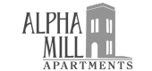 Logo for Alpha Mill Apartments in Charlotte, NC