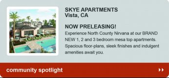Skye Apartments, brand new apartments in Vista, CA