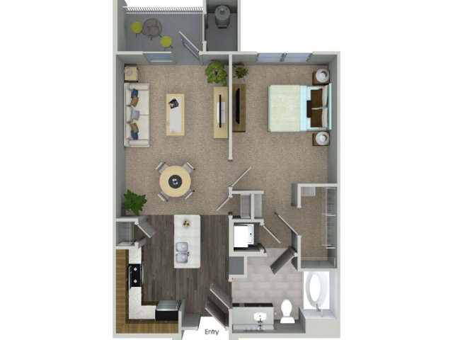 A1 1 bedroom 1 bathroom floorplan at Talia Apartments in Marlborough, MA