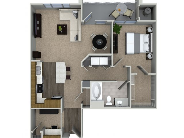 A3A 1 bedroom 1 bathroom floorplan at Talia Apartments in Marlborough, MA