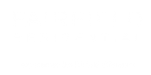Fairfield corporate logo at Westchester Park Apartments in Tustin, CA.