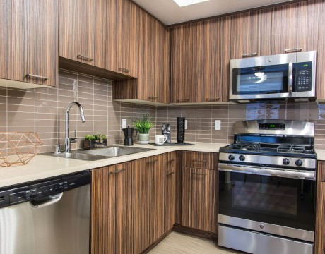 Kitchen at Avaire South Bay Apartments in Inglewood, CA