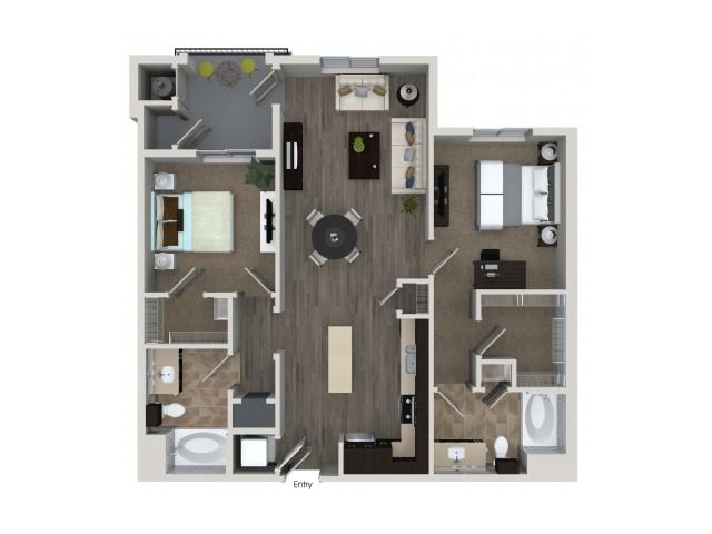 2 bedroom 2 bathroom B3.1