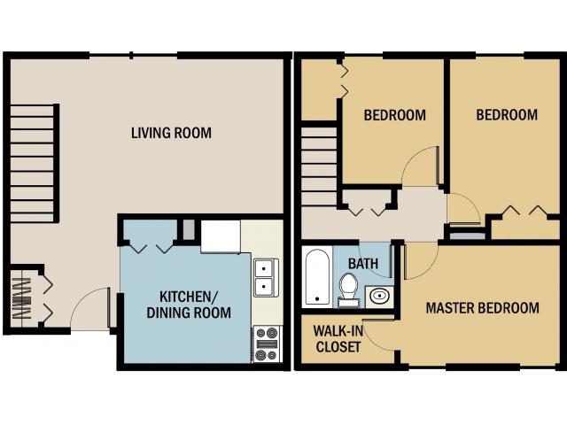 3 bed 1 5 bath apartment in muskegon mi muskegon for 5 bedroom townhouse floor plans