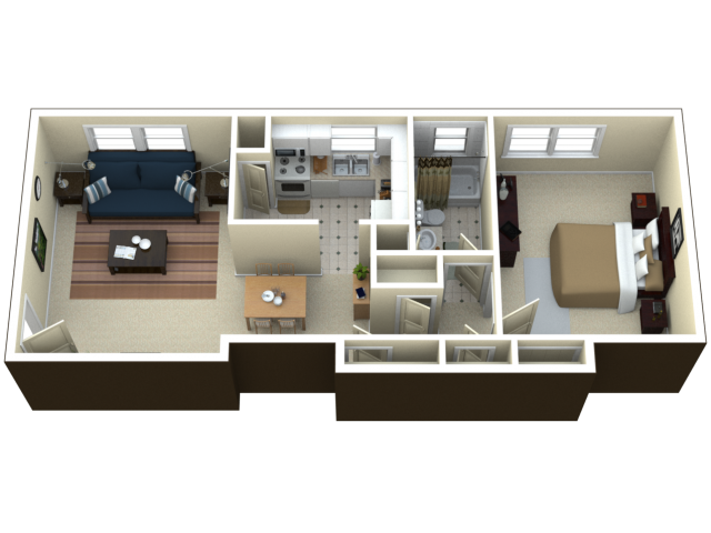 1 bed room apartments