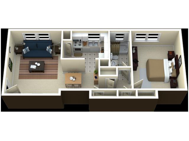 1 Bed 1 Bath Apartment In Royal Oak Mi Arlington
