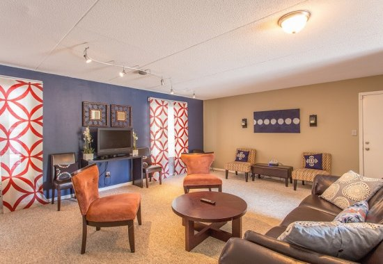 Living room of unit at The Ledford at Hamilton Place in Chattanooga, Tennessee