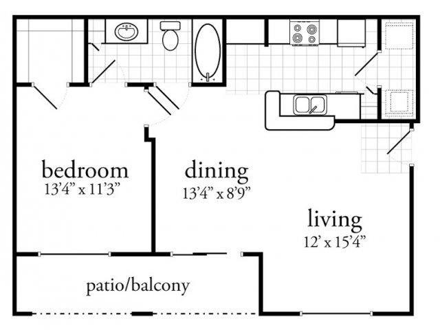1 Bed 1 Bath Apartment In San Marcos Tx Savannah Club