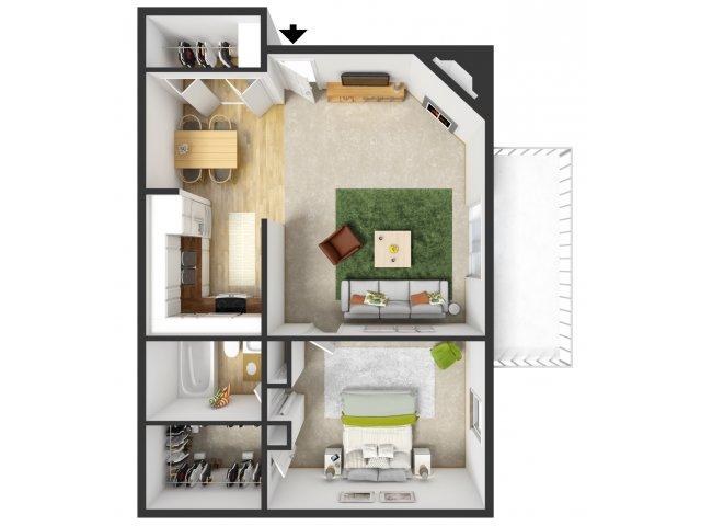 For The One Bedroom Floor Plan.