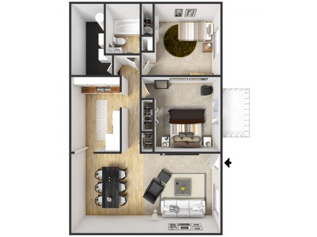 2 Bedroom 1 Bath Apartments. for the 2 Bedroom 1 Bath floor plan  Bed Apartment in Battle Creek MI Limewood Apartments