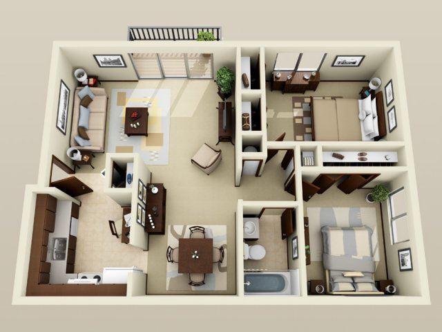 Clairemont Village Apartments and Townhomes. 2 Bed Apartments   Clairemont Village Apartments and Townhomes