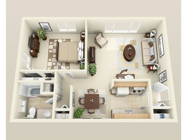 One Bedroom Apartment For 1 Apartments In