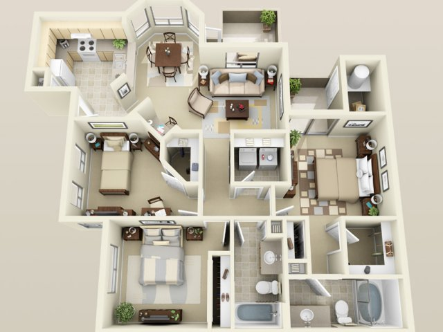 Current availability and pricing at sonoma landing for 4 bedroom luxury apartment floor plans