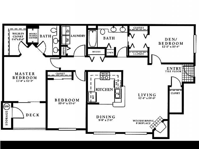 3 bed 2 bath apartment in everett wa portsmith - One bedroom apartments everett wa ...
