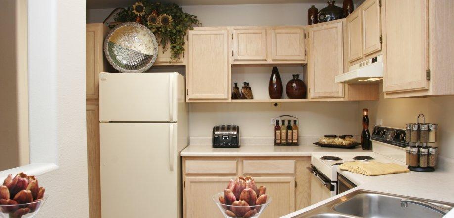 kitchen with refrigerator dishwasher stove