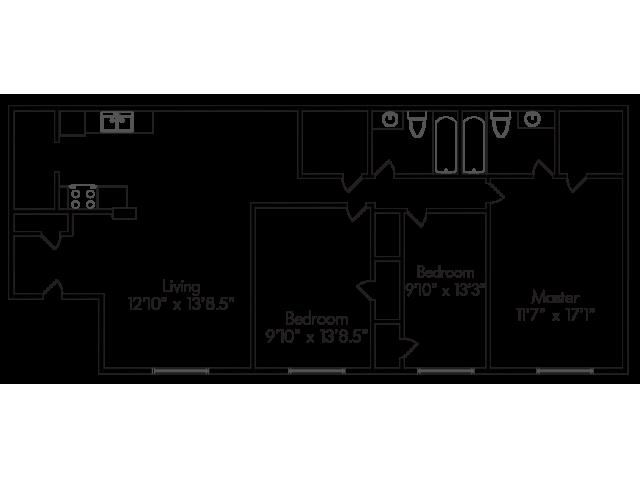 3 Bed 2 Bath Apartment In Abilene Tx Lexington Court Apartment Homes