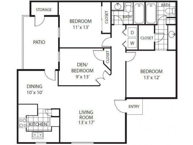 3 bed 2 bath apartment in scottsdale az desert horizon apartment homes for 3 bedroom apartments in scottsdale