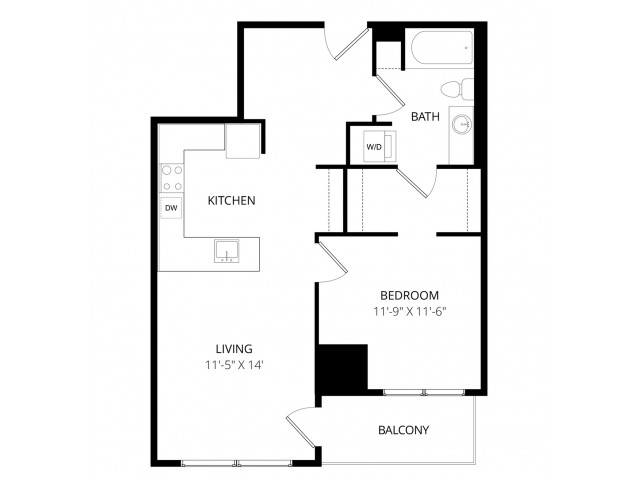 1 Bedroom P