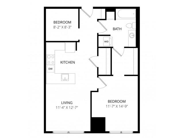 1 Bedroom DU