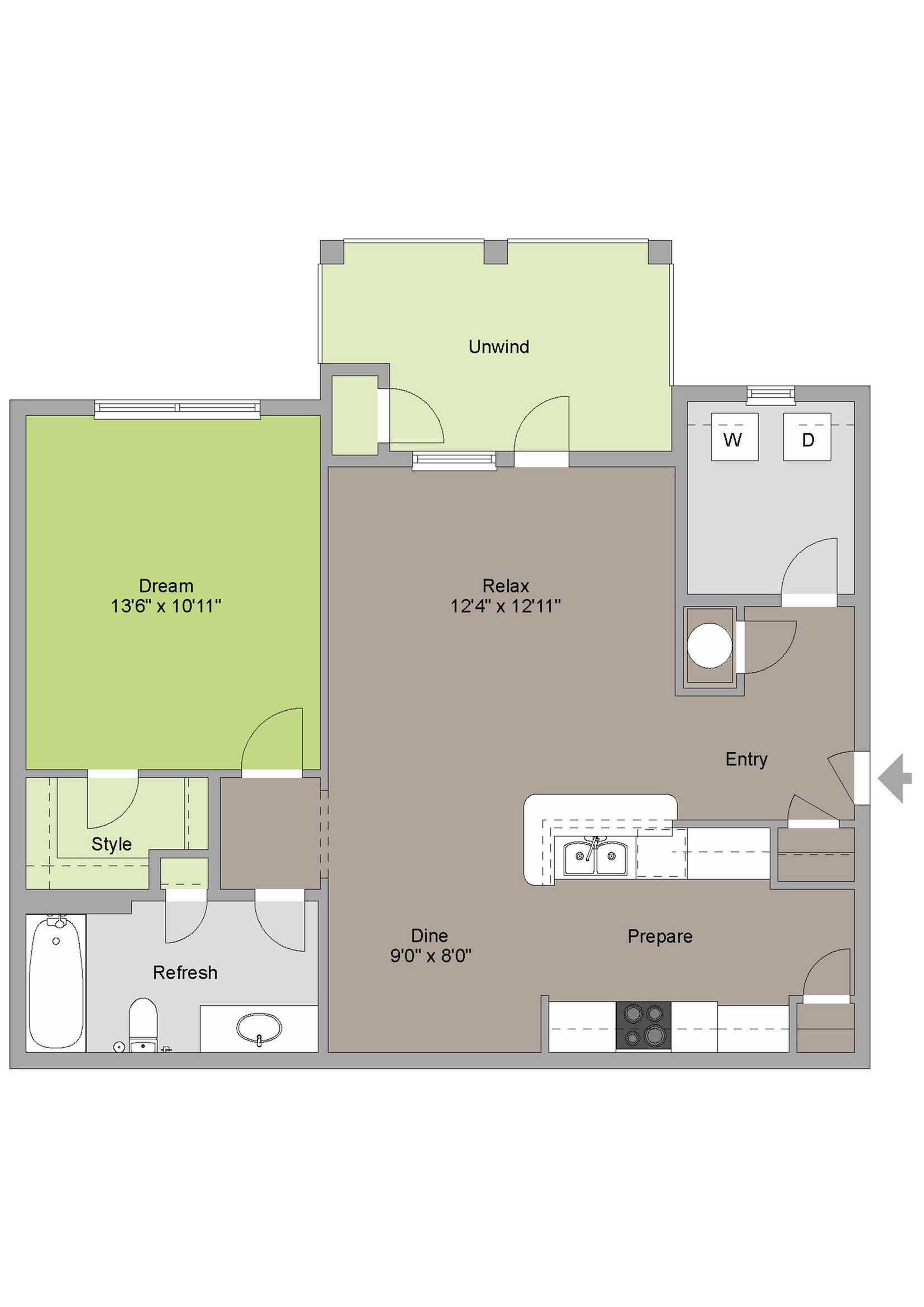 1 bed 1 bath apartment in arden nc ansley at roberts lake for The ansley floor plan